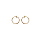 Non-piercing Fake Hoops Anodized Gold Finish - Lip, Nose, Cartilage & Ear - Sold As a Pair