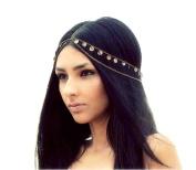 Lowpricenice(TM) Retro Mysterious Fashion Metal Head Chain Jewellery Chain Headband Head Piece Hair Band