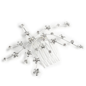 2013newestseller Wedding Vintage Virtuous Plum Blossom Hair Comb Headpiece Silver