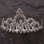Crazy K & A Mini Charming Rhinestone Tiara Crown Headband Comb Pin #004