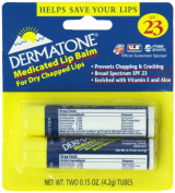 Dermatone Medicated Lip Balm, 2 Count