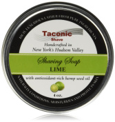 Taconic Shave Barbershop Quality Lime Shaving Soap with Antioxidant-Rich Hemp Seed Oil