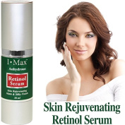 I Max Anhydrous Serum of Retinol, Tocopherol, B-Carotene, CoQ-10, Omega 3 6 9 and Rose Hip Seed Oils to rejuvenate, soothe, firm skin and reduce wrinkles/Gel Type Serum