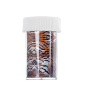 Fashion Design Glitzy Transfer Nail ART Foil 1 Roll ,Tiger Stripes False Nail Wraps without Adhesive