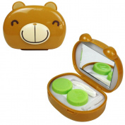 JAVOedge 3D Bear Contact Lens Travel Kit, Light Brown