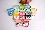 Mini Cute Expression Contact Lens Case Eye Care Box Colour Send in Random
