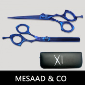 Professional Hair Dressing Barber Scissors Hair Scissors 14cm Blue Design Hair Thinning Scissors Set
