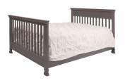 Million Dollar Baby Classic Hidden Hardware Full Size Bed Conversion Kit, Weathered Grey
