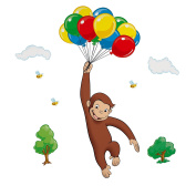 RoomMates RMK1082GM Curious George Peel & Stick Giant Wall Decal