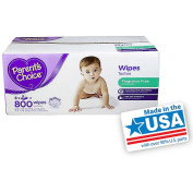 Parent's Choice Fragrance Free Quilted Baby Wipes, 800 sheets