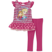 Disney Frozen Toddler Girl Ruffle Tunic and Legging 2-Piece Set