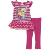 Disney Frozen Toddler Girl Ruffle Tunic and Legging 2-Piece Set