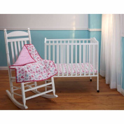 Disney Baby Bedding Minnie Mouse 3-Piece Portable Crib Bedding Set