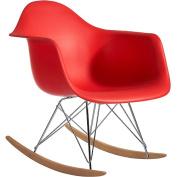 Fine Mod Rocker Arm Chair, Red