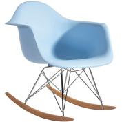Fine Mod Rocker Arm Chair, Blue