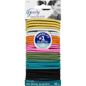 Goody Ouchless No Metal Elastics, Neon Lights, 30 count
