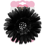 Gimme Clips Button Hair Clip, Dalmatian Black with Polka Dot