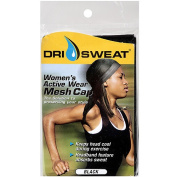 Dri Sweat Women's Active Wear Mesh Cap, Black