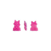 u groom US354 16 Rubber Curry Brush Pink Cat