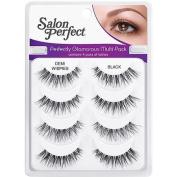 Salon Perfect Perfectly Glamorous Multi Pack Eyelashes, Demi Wispies Black, 4 pr