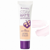 Rimmel London Stay Matte Liquid Mousse Foundation, 010 Light Porcelain, 30ml