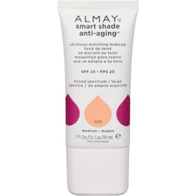 Almay Smart Shade Anti-Ageing Skintone Matching Makeup, 300 Medium, 30ml