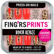 Fing'rs Prints Rock Rebel Press-On Nails, Wild Card, 26 count