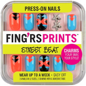 Fing'rs Prints Street Beat Press-On Nails, Warp Star, 26 count