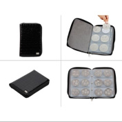 Bundle Monster Nail Stamping Plate Zipper Synthetic Leather Case Organiser