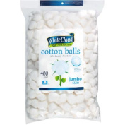 White Cloud Jumbo Size Cotton Balls, 400 count