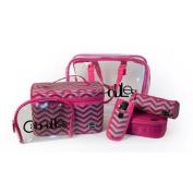 Caboodles Le Sophistique Cosmetic Bag Set, 10 pc