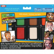 POOF-Slinky 80108BL Ideal Be Anything Wild Animals Face Painting Kit 8-Colour Set