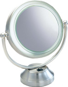 Fluorescent Lighted Magnifying Vanity Mirror