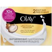 Olay Ultra Moisture Beauty Bars Soap, 120ml, 2 count