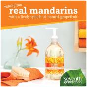 Natural Purifying Hand Wash, Mandarin Orange & Grapefruit, 350ml Pump Bottle