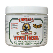 Thayers 221945 Witch Hazel With Aloe Vera 60 Pads