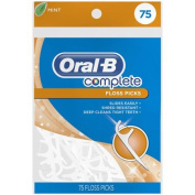 Oral-B Complete Mint Flavoured Floss Picks, 75 count