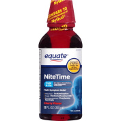 Equate Nitetime Cherry Flavour Cold & Flu Relief, 350ml