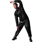 Valeo Vinyl Sauna Suit, Black, Large/X-Large