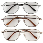 EasyComforts 5.00X Pilot Reading Glasses - 3 Pack