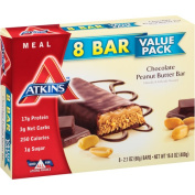 Atkins Advantage Chocolate Peanut Butter Meal Bar, 60ml, 8 count