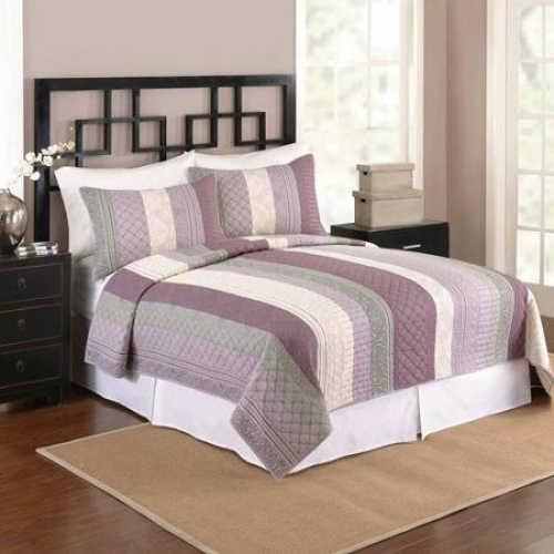 Better Homes And Gardens Keiran Bedding Quilt Purple Shipping Included Ebay