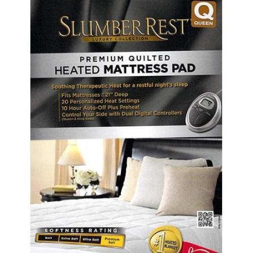 Sunbeam Slumber Rest Premium Quilted Electric Heated