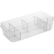 InterDesign Clarity Large Divided Cosmetic Bin
