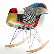 Fine Mod Pattern Rocker Arm Chair