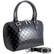 Bravo Handbags B70-9274PM Svetlana Pewter Metallic Diamond Print