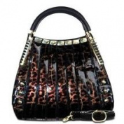Bravo Handbags B70-9274PM Svetlana Pewter Metallic Diamond Print