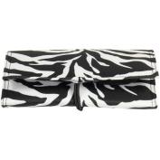 Zebra Print Tri-Fold Jewellery Organiser