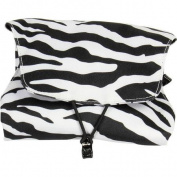 Zebra Print Four-N-Fold Jewellery Organiser with Snap-Out Drawstring Caddy