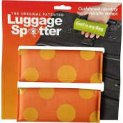 Luggage Spotters Designer Orange Polka Dot Luggage Spotter
